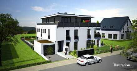 Schlüsselfertiger Neubau: Ideal geschnittene 2 Zimmer Wohnung mit Dachterrasse