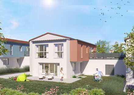 ETW 12 * 3-Zi.-Wohnung mit großer Terrasse, Garten und Alternativ-Lösung für die Familie