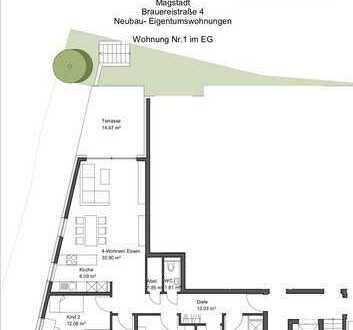4,5 Zimmer EG-Neubau-Eigentumswohnung in Magstadt !!Provisionsfrei!!