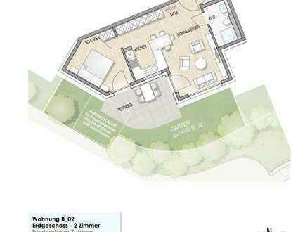 Wohnung B 02 Erdgeschoss mit Gartenanteil