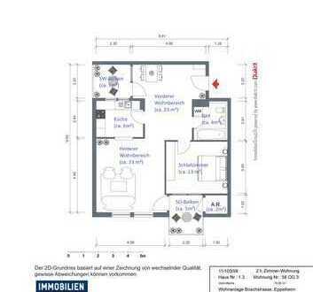 Moderne 2,5-Zimmer-Wohnung mit 2 Balkonen in Eppelheim