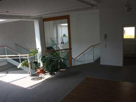 Günstige, geräumige und neuwertige 3-Zimmer-Loft-Wohnung mit Dachterrasse.