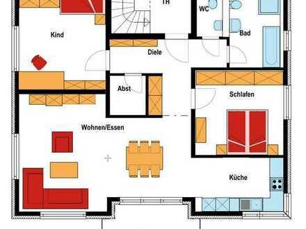 Erstbezug Neubau 3 Zimmer OG Wohnung mit Küche, Balkon und Garage