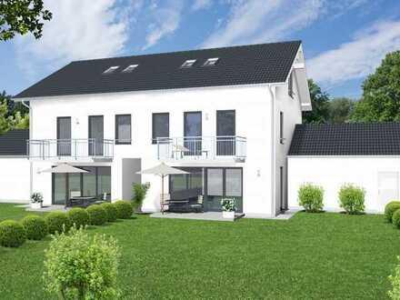 Neubau einer modernen Doppelhaushälfte