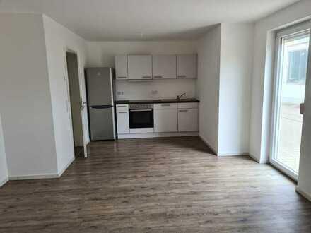Neuwertige 2-Raum-EG-Wohnung mit integrierter Einbauküche und Terrasse in Gegenbach