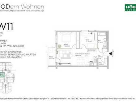 3 Zimmer • 72 m² • Balkon mit Abendsonne • 1. OG