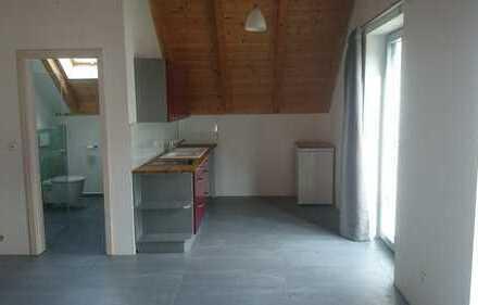 Stilvolle, neuwertige 1-Zimmer-Dachgeschosswohnung mit Einbauküche in Finning