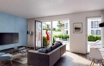PANDION VILLE - Gartenwohnung mit zwei Bädern und schöner Terrasse