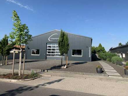 Moderne Gewerbeimmobilie mit 500qm Lager- Büro und Wohnfläche in bevorzugter Lage