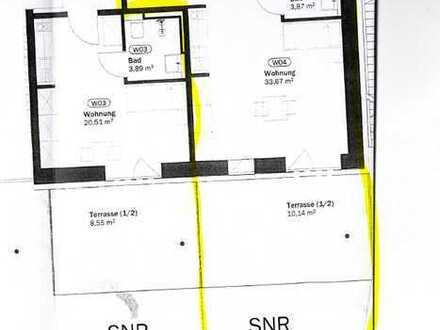 1-ZKB mit Terrasse und Garten. Altersgerechtes Wohnen, Erstbezug nach KfW55 Kernsanierung