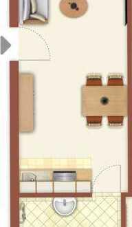 Helle 1 Zimmer-Wohnung im EG