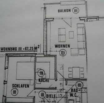Schöne, geräumige zwei Zimmer Wohnung in Bad Lippspringe