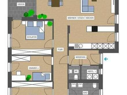 4-Zimmer-Wohnung mit Aussicht