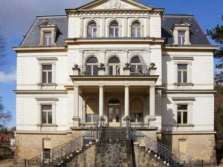 Residieren im Königlichen Park in Dresden-Wachwitz – exklusive Maisonette mit Kamin und Terrasse
