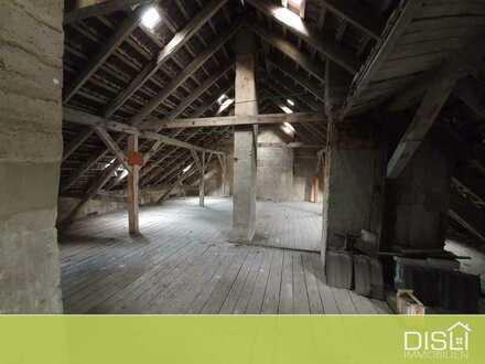 Unfertige Dachgeschosswohnung