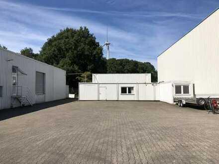 Lagerhalle mit Bürocontainer Gewerbegeb. GLA-Ellinghorst zu vermieten. Preis 1.800 € VB