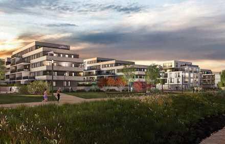 Wohnen und Wohlfühlen mitten im Grünen mit Blick auf den Rhein in Ihrer 3-Zimmer-Garten-Wohnung