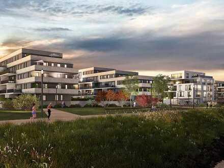 Wohnen und Wohlfühlen mit Blick auf den Rhein in Ihrer 3-Zimmer-Garten-Wohnung