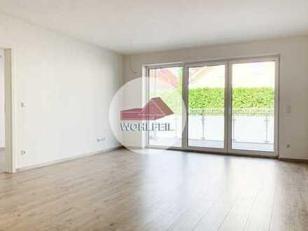 Wohlfeil Immobilien: Helle, großzügige 3-Zimmer Wohnung mit Blick ins Grüne!