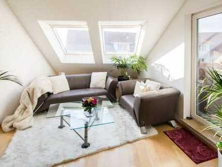 Ganz oben mit Lift - Schöne Dach-Maisonette mit Sonnenterrasse; vermietet!