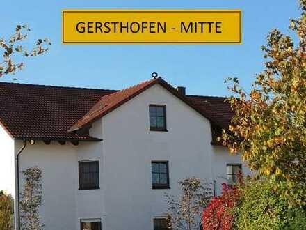 Gersthofen-Mitte: Gemütlich-geräumige 3 ZKB, 82m², 1.OG, Süd/West-Loggia, TG, Keller, zum 01.02.2020