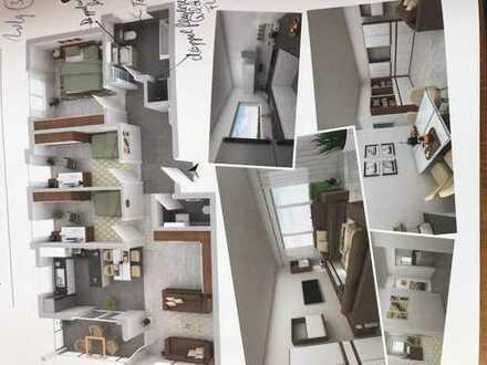 Erstbezug: stilvolle 4-Zimmer-Wohnung mit Einbauküche und Balkon in Herrenberg-Mönchberg