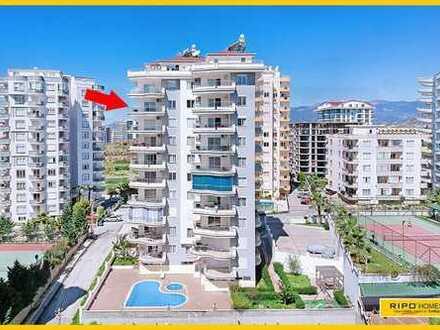 Nahe dem Strand, ein schönes 3-Zimmer-Apartment in einer ruhigen Gegend von Mahmutlar!