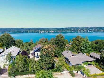 MONTELAGO - Exklusive Walmdach-Doppelhausvilla im Ortskern von Berg! Fußläufig zum See!