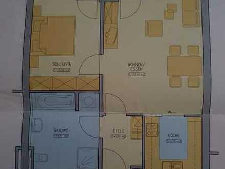 Schöne, gepflegte 2-Zimmer-Wohnung mit Balkon und Einbauküche in Wendlingen