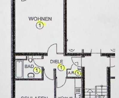 Modernisierte 2-Zimmer-Hochparterre-Wohnung mit Balkon in Holweide, Köln