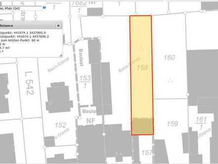 Kandel: Baugrundstück 654 m² in zweiter Reihe