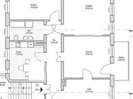 schöne sanierte 4-Zimmer-Altbauwohnung mit Balkon und EBK in Halle (Saale)