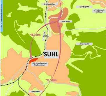Grundstück zur Gewerbeneubebauung nur 2 km zur A 71