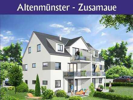Herrliche 3 ZKB Wohnung mit gr. Süd-West Balkon im Herzen von Altenmünster
