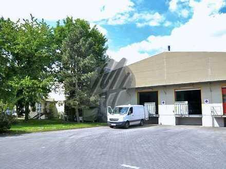 KEINE PROVISION ✓ NÄHE BAB 5 ✓ Lagerflächen (1.100 m²) & optional Büroflächen (150 m²) zu vermieten