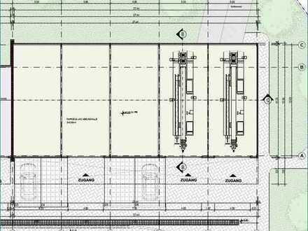 Neue Halle im Stadtgebiet Aschaffenburg an Handwerker zu vermieten