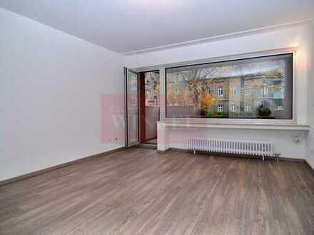 Sanierte 1-Zimmerwohnung mit Balkon, Einbauküche, Tiefgaragenstellplatz an der Kölnstraße -Auerberg-
