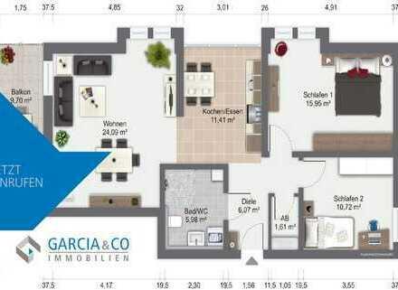 GARCIA:**Neu: Modern. Zentral. Barrierefrei - 3-Zimmer-Wohnung in Attendorn**