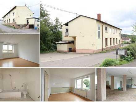 Eigennutzung/Kapitalanlage Wohn & Geschäftsgebäude m. Lager/Werkstatt/Produktionshalle & 4 Wohnungen