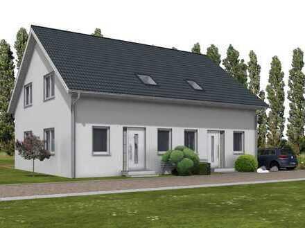 Neubau Doppelhaushälfte in Berlin-Mahlsdorf - als KFW 55 Haus.