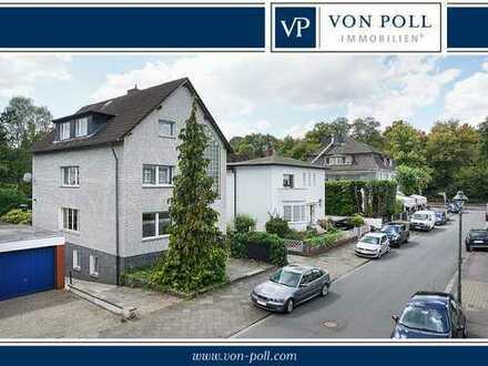 Großes freistehendes 2- bis 3 Familienhaus in Benrath am Schlosspark mit viel Potential