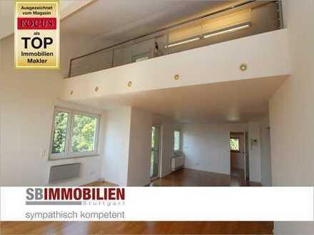 Charmante Maisonettewohnung am Killesberg mit ca. 172 qm, TG-Platz u. toller Aussicht