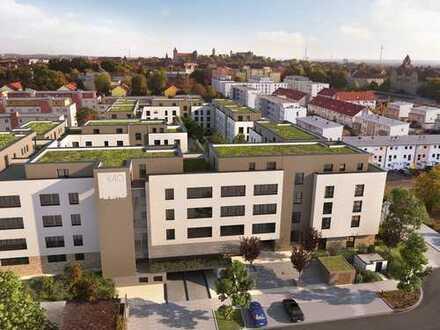 2-Zimmer-Gartenwohnung mit West-Terrasse und Duschbad nördlich der Altstadt in Sichtweite der Burg