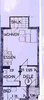 Geräumige und sanierte 1-Zimmer-Hochparterre-Wohnung mit Balkon, EBK und Stellplatz in Leonberg