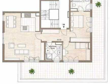 Zauberhafte Dachterrassenwohnung mit 49 qm DT, 3 Zi, 100 qm reine Wohnfläche, Laim, Kapitalanlage