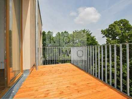 ERSTBEZUG NEUBAU HENRICI-TRIO: 3-Zimmer-Wohnung mit Balkon, Loggia, 2 Bädern in Leipzig Lindenau