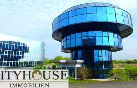 CITYHOUSE: Architektenträume, freistehender Hotelrohbau, daneben Bürogebäude, Parkplätze ab sofort