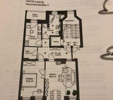 Schöne 2-Zimmer-Wohnung mit Balkon, großer Abstellkammer und Einbauküche in Leipzig