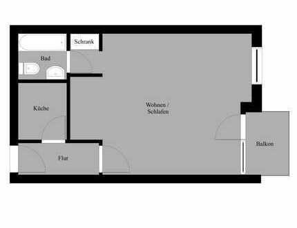 1-Zimmer-Wohnung in zentraler, bevorzugter Wohnlage