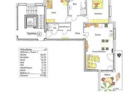 Stilvolle, neuwertige 3,5-Zimmer-Wohnung mit Balkon und EBK in Erdmannhausen (Lkr Ludwigsburg)